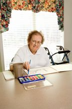 grandmother painting Activities for Senior Citizen Centers Around Dementia Prevention