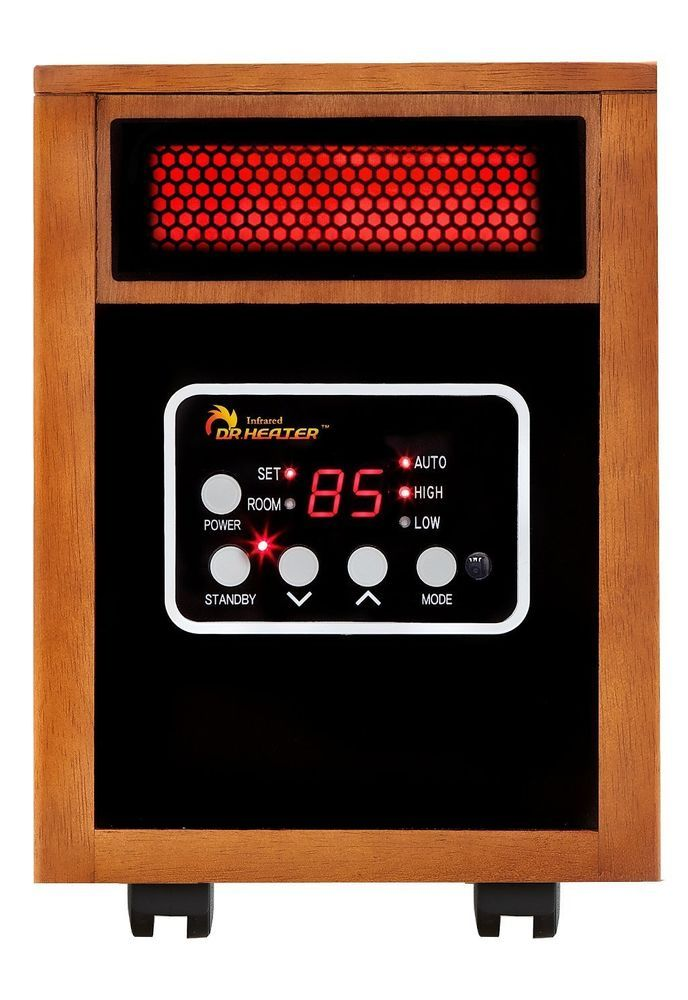 Portable Space Heater Dr Infrared 1500 Watt Dual Heating Remote Control Winter  #DrInfrared