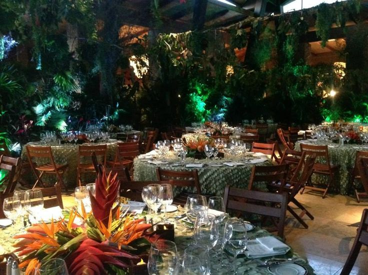 Tropical rainforest themed party google search table for 4 seasons decoration