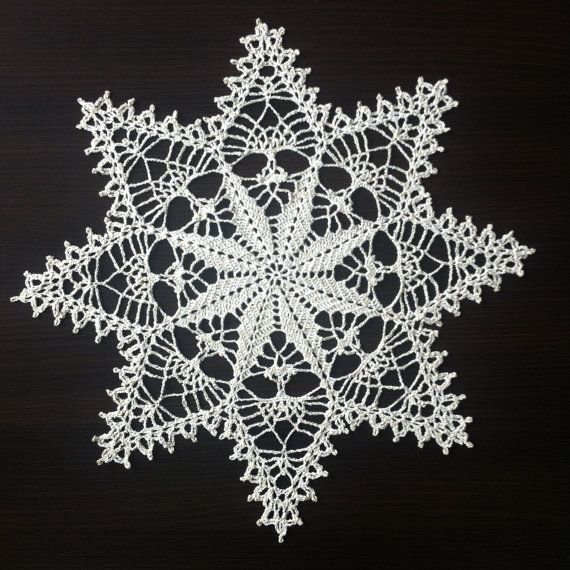Christmas Star II - Handmade Lace Crochet Doily/Wall Decoration/Tablecloth (Gold)