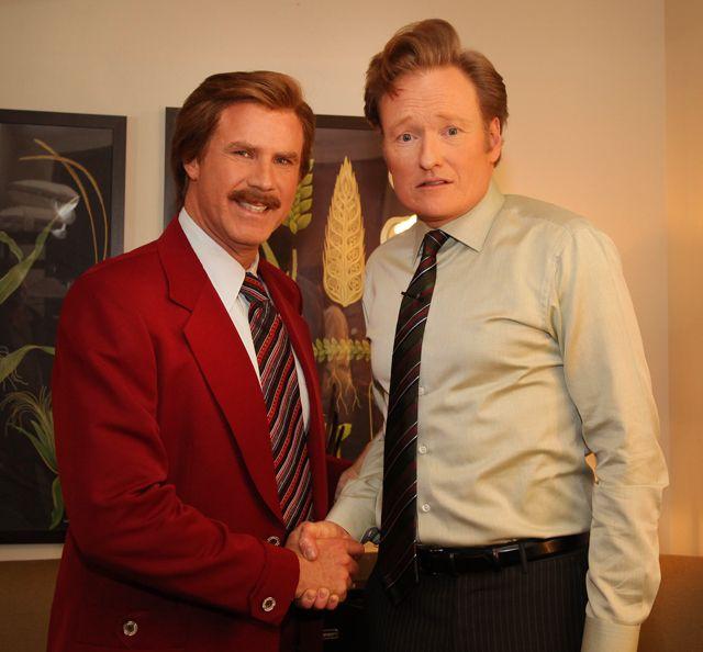 Ron Burgundy Announces Sequel to Anchorman Movie on Conan Show