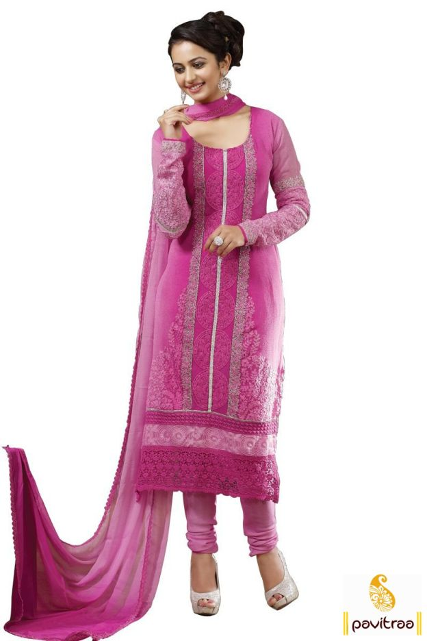 Rakul Preet In Pink Embroidery Salwar Suit - Rakul Preet Singh