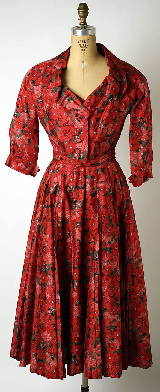 House of Dior (French, founded 1947). Afternoon dress, spring/summer 1953. Designer: Christian Dior (French, 1905–1957). The Metropolitan Museum of Art, New York.  Gift of Mr. and Mrs. Henry Rogers Benjamin, 1965 (C.I.65.14.5a–d)