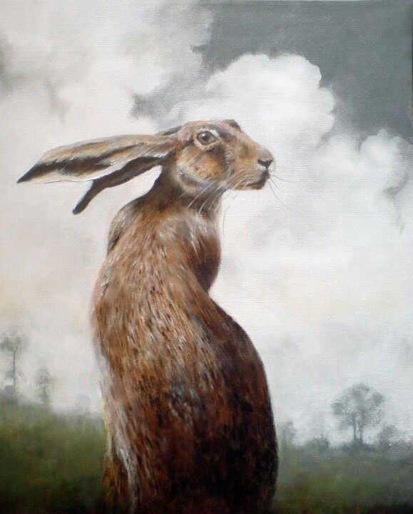 Hares.I love them, maybe because of my maiden name or because their association with the moon.