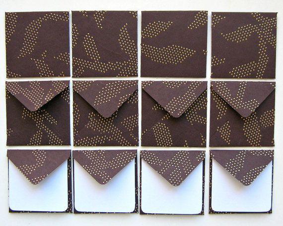 Marrone con puntini dorati  Mini Stationery di stationeryCiaffi, $12.00