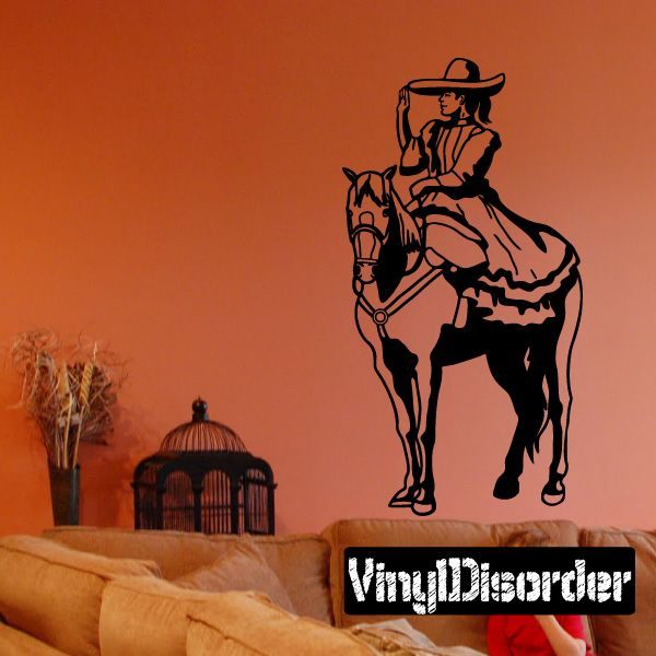 Mexican Rodeo Wall Decal - Vinyl Decal - Car Decal - CD003