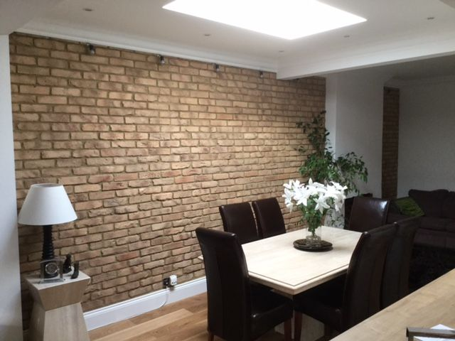 Smoked Peach Feature Wall in a residential dining room