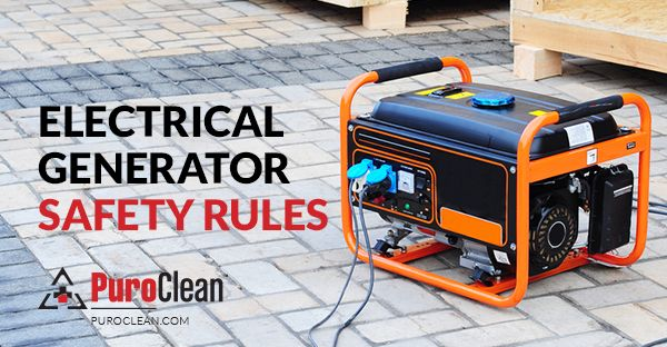 Electrical generators release carbon monoxide into the air and produce heat that can start a fire. Learn how to use electrical generators safely: http://www.puroclean.com/blog/electrical-generator-safety-rules #GeneratorSafety #COSafety #FirePrevention