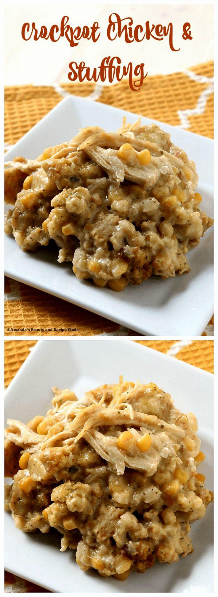 Crockpot Chicken and Stuffing / myfindsonline.com