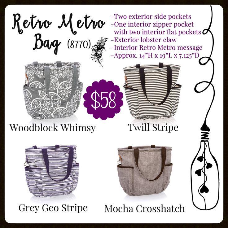 Retro Metro Bag, Thirty-One, Fall 2017 www.mythirtyone.com/carrieblackman