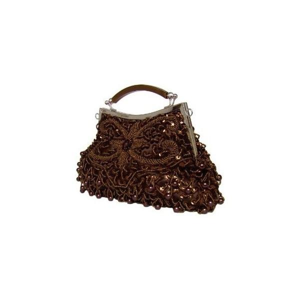 Edle Handtasche/Clutch mit Perlen in Braun: Amazon.de: Schuhe &... ($32) ❤ liked on Polyvore