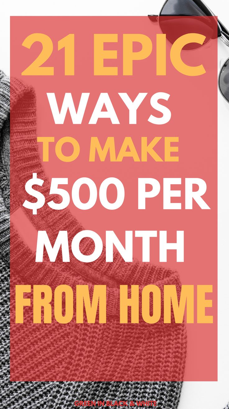 21 Epic Ways to make money from home – How to make money from home
