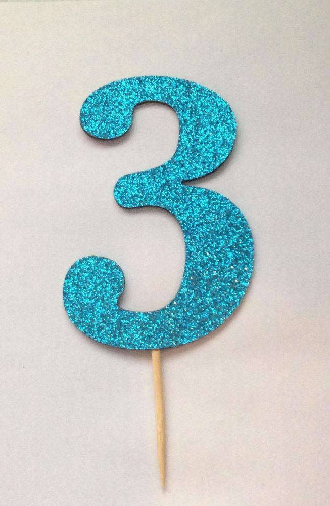 One Glitter Number of your choice (0-9) to stick into your FROZEN themed cake
