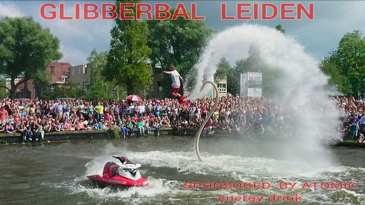 City center of Leiden during a water event.... GLIBBERBAL: