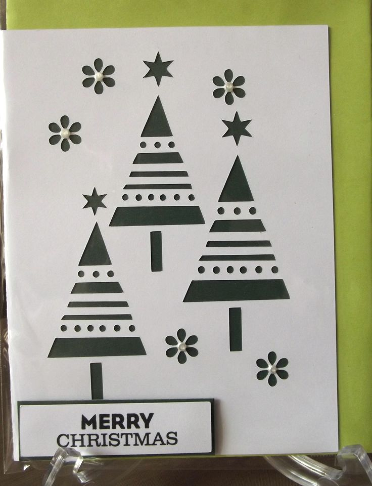 Christmas card that I made using my silhouette.