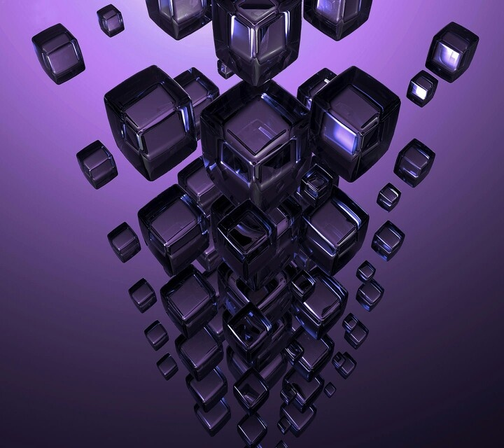 Purple cubes