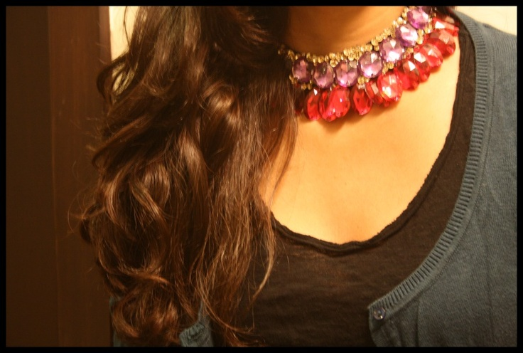 Deconstructed cosmo bib necklace