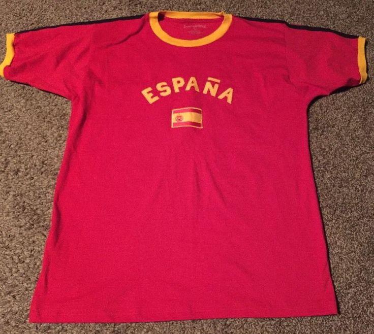 Espana International Soccer T-shirt Futbol Size Large #International #TShirt