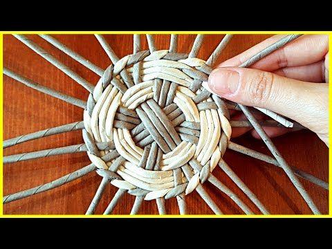 Круглое дно для плетёной корзины! Вариант 2 - YouTube
