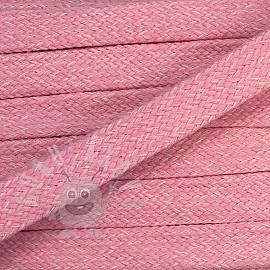 Bavlnená šnúra plochá 20 mm Melir rose