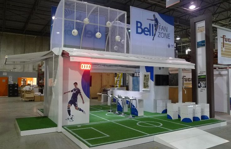 Bell Canada booth by Aura XM