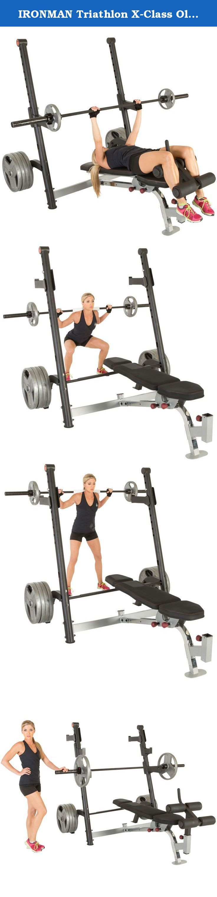 IRONMAN Triathlon X-Class Olympic Weight Bench with Preacher Curl & Leg Developer Attachment. ANYTHING is possible. The Ironman brand is a statement of excellence, commitment, passion, perseverance and the spirit of never giving up. Ironman fitness has taken on the challenge of designing and developing a full line of heavy duty high end home, light commercial grade, strength and weight training equipment. No need to go to the gym or fitness center, when you can get the workout you want…