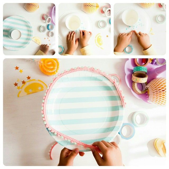 Cake stand DIY of paper plates and paper cups