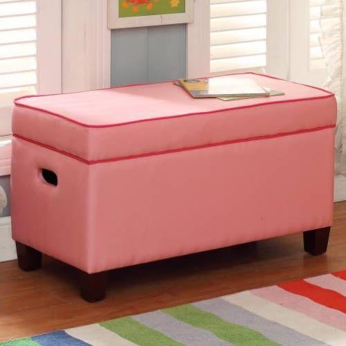 Kinfine K6409a579 A568 Storage Bench In Pink With Dark