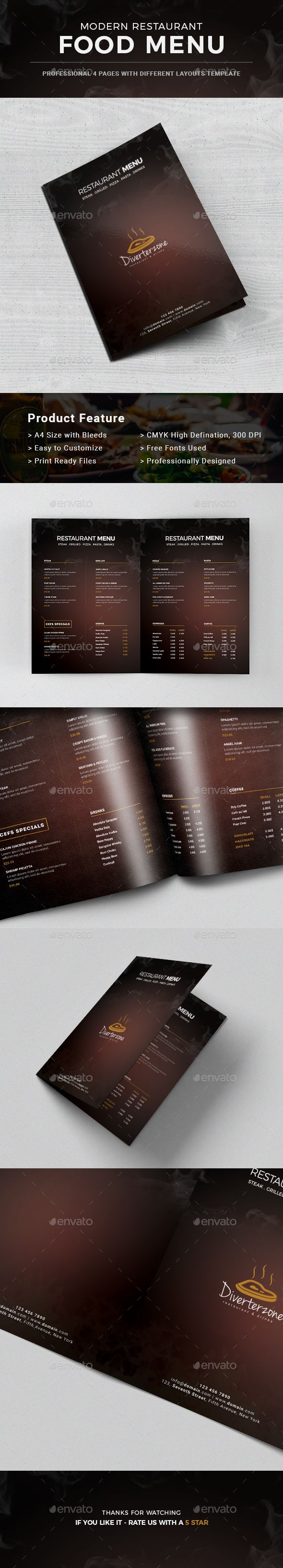 Food Menu u2014 Photoshop PSD food minimal
