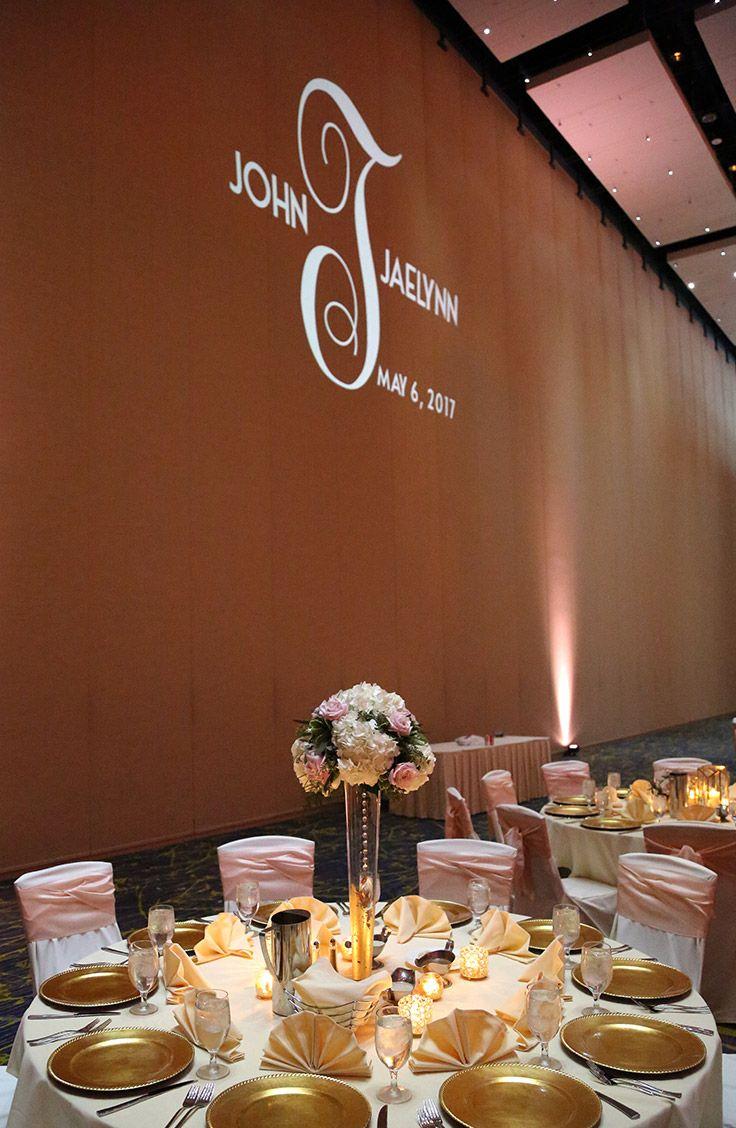 Include a wedding monogram on the venueu0027s
