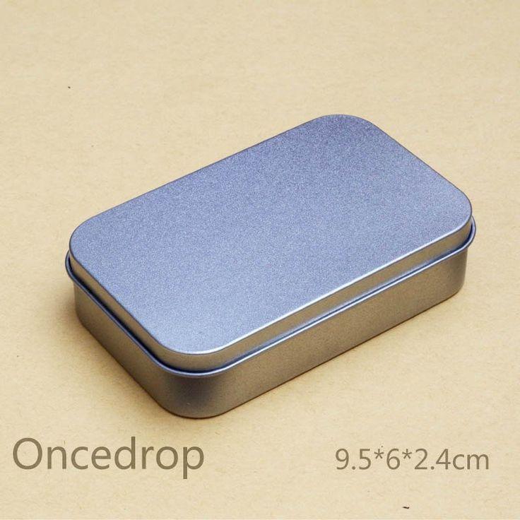 Credit card size Tin box DIY Blank Metal Storage Boxes 1pcs