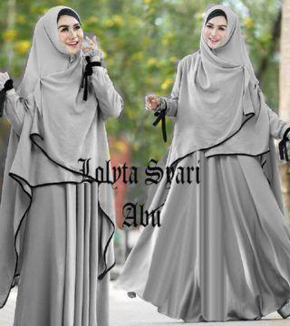 Baju Muslim Gamis LOLITA Syari ini di design Modern dan dengan warna serasi serta menggunakan bahan yang nyaman di pakai, di proses dengan bahan yang adem.