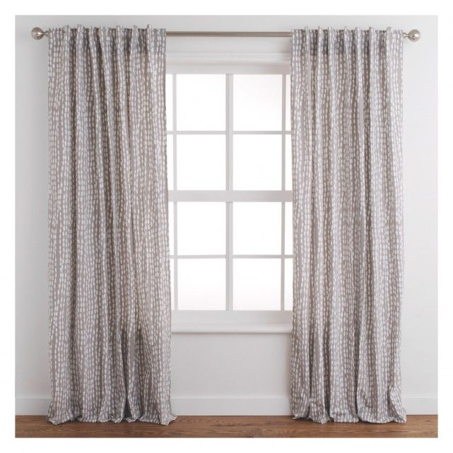 The Trene pair of grey patterned curtains feature a contemporary printed pattern, giving your room an elegant look.[br]The unlined curtains allow more air and light into the room giving a lighter look in smaller spaces.[br]The hidden tab top heading is suitable for use with curtain poles.  Other colours and drop lengths are available in the Trene range.