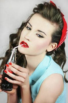 Soda Pop Pin Up:: Rockabilly:: Sock hop:: Vintage Fashion: