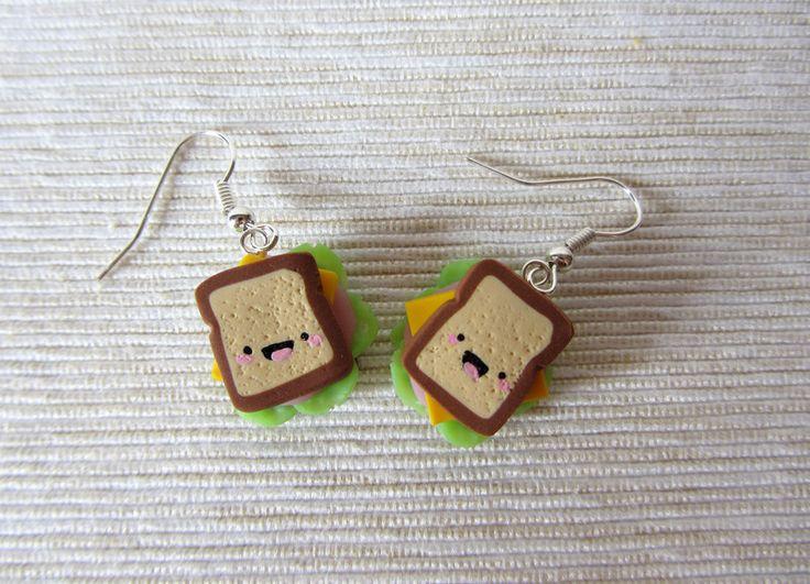 Orecchini in Fimo - Sandwich di HappyBee Lab su DaWanda.com