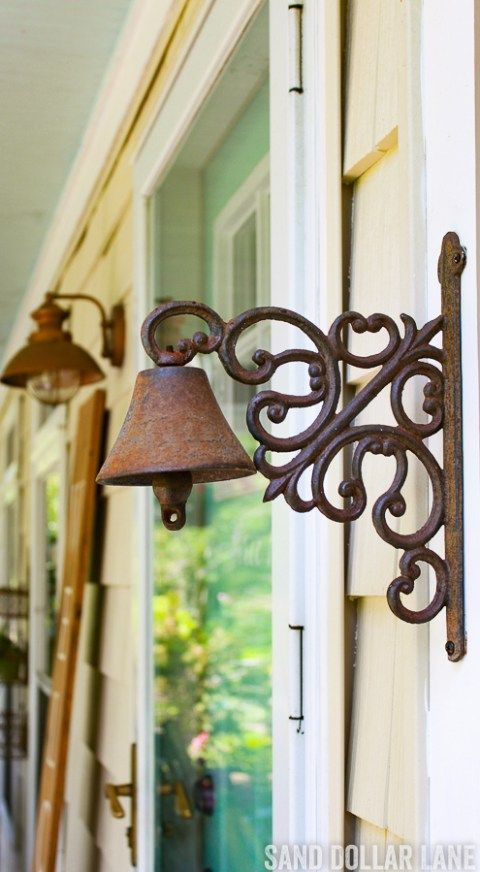 Unique door bell.   Coastal farmhouse decorating