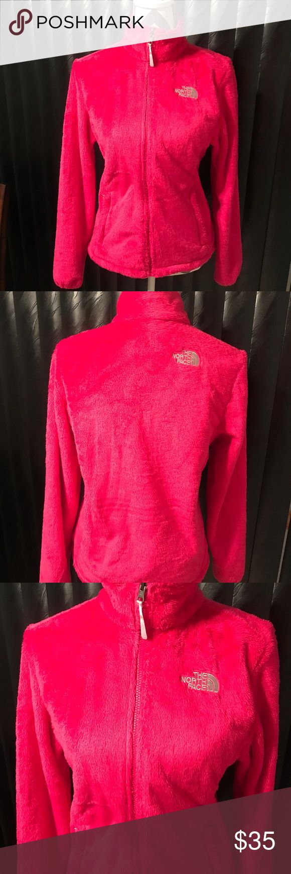 🌷The North Face Pink Osito Jacket🌷 Pink North face Osito fleece jacket. In excellent condition. Great for fall or winer! 🛍Bundle 2 + items and receive a discount and pay only one shipping fee! 🛍 The North Face Jackets & Coats