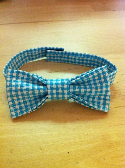 No sew bow tie.  Frances is so smart!