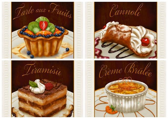 Retro Dessert Signs.