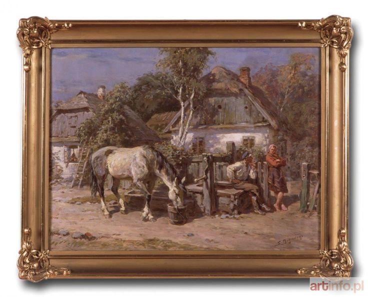 Stanisław BAGIEŃSKI ● Zaloty przy studni ● Aukcja ● Artinfo.pl