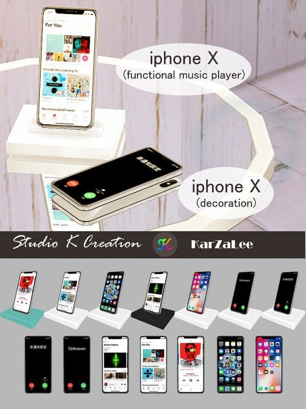 Studio K Creation: Iphone X set (low poly) • Sims 4 Downloads – Gweny