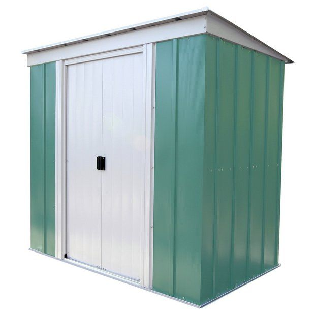 Buy Arrow Pent Metal Garden Shed - 6 x 4ft at Argos.co.uk - Your Online Shop for Sheds, Sheds and bases, Conservatories, sheds and greenhouses, Home and garden.