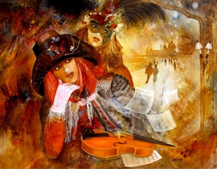 Jean-Claude Campana 1941 | French painter | Carnival of Venice