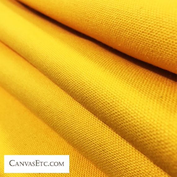 Cotton Duck Canvas Fabric 10 Oz Golden Sun 58 W Canvas Etc Yellow Fabric Fabric Canvas Fabric