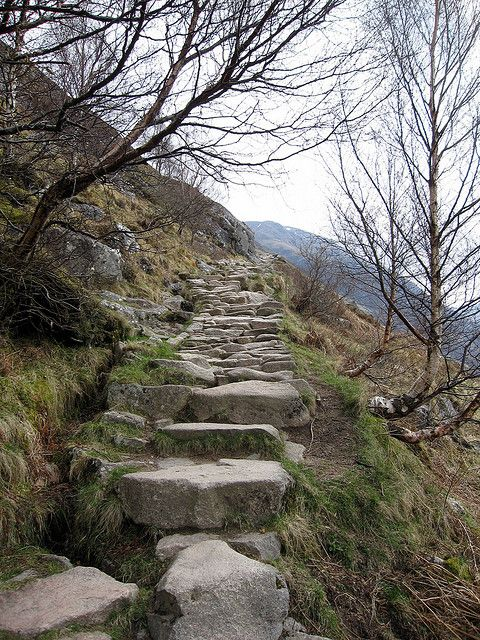 Path on Ben Nevis mountain by ultra runner, via Flickr