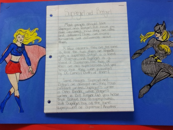 compare contrast essay superheroes In contrast, marvel comics promotes superheroes such as the x-men, a team of superheroes who possess the x-gene this essay will analyze this issue.