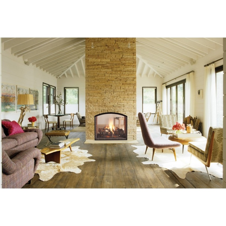 Gas Fireplace see thru gas fireplace : 29 best Foyers au gaz | Gas Fireplaces images on Pinterest
