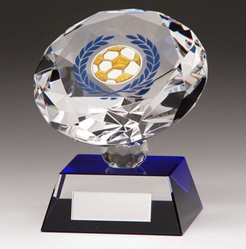 Football Diamond #Trophy with blue highlights