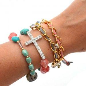 Pulsera Cruz Plata | Dulce Encanto accesorios para mujer  Compra tus accesorios…