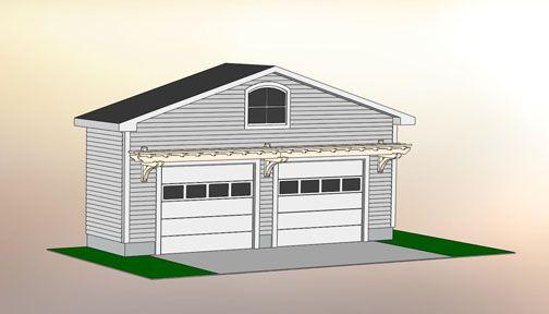 Trellisstructures.com site with plans to build garage pergolas. Garage Pergola No. GP4b